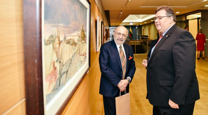 L. Linkevičius susitiko su Lietuvoje gimusiu pasaulinio garso dailininku Samueliu Baku – Silvija Travel Tips