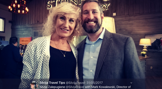 Silvija Zalepugiene with Mark Kowalewski from Stone Tower Winery – Silvija Travel Tips