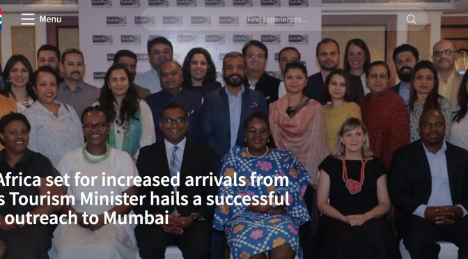 South Africa set for increased arrivals from India – Silvija Travel Tips