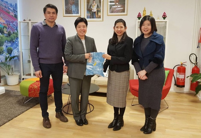 H.E. Mrs. Kanchana Patarachoke, Ambassador-Designate of Thailand to Sweden, and Royal Thai Embassy's staff visited Tourism Authority of Thailand (TAT) Stockholm Office.