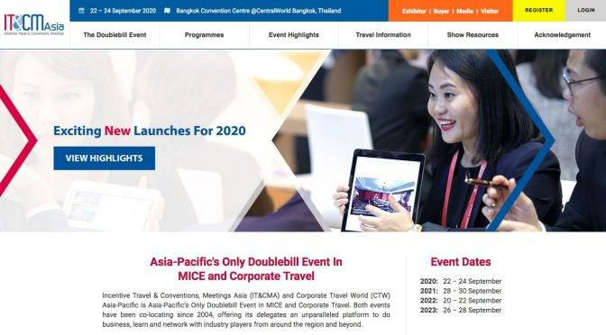 IT&CM Asia 2020, Bangkok, Thailand -Silvija Travel Tips
